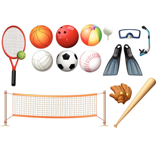 different equipments for different sports