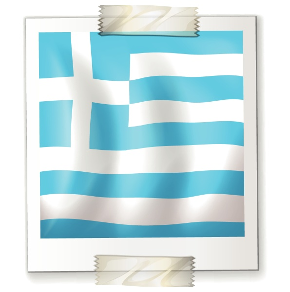 israel flag on square paper