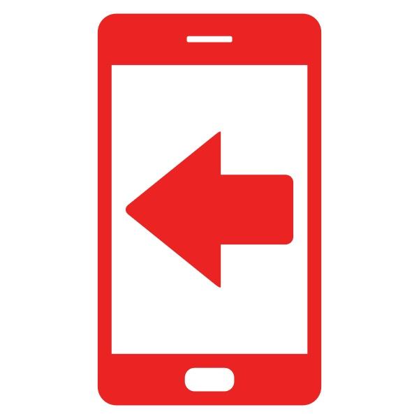 left arrow and smartphone