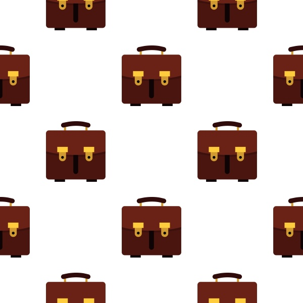 brown leather briefcase pattern seamless