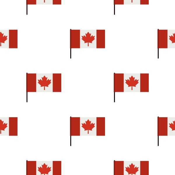 canadian flag pattern seamless