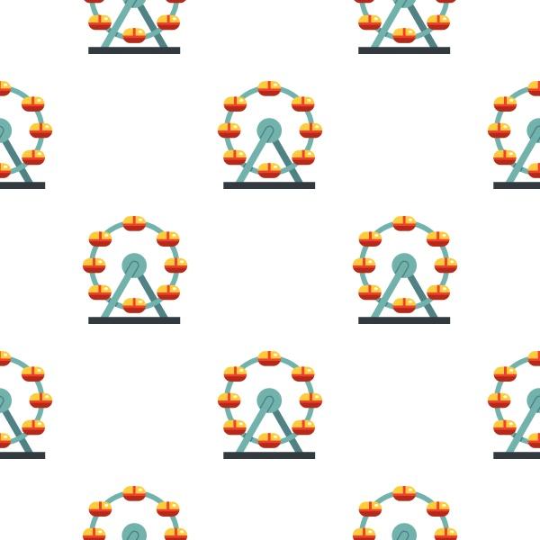 huge ferris wheel canada pattern seamless