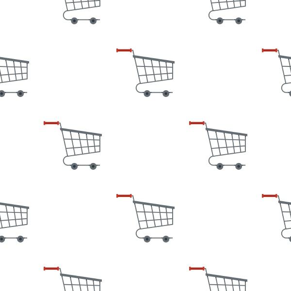 shopping cart pattern flat