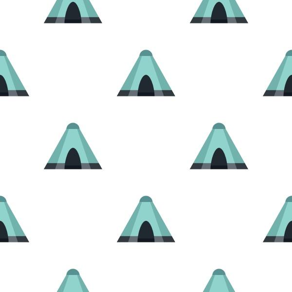 blue tent pattern flat