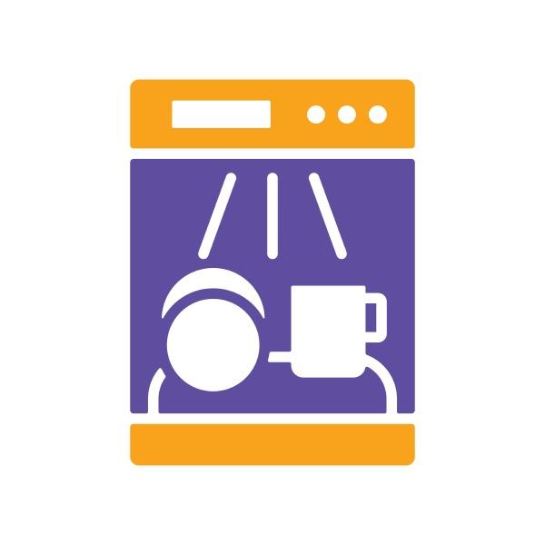 dishwasher vector glyph icon electric kitchen