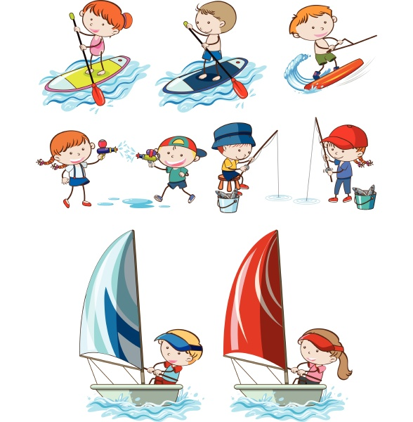 doodle kids and sport activities