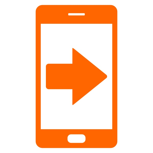 right arrow and smartphone