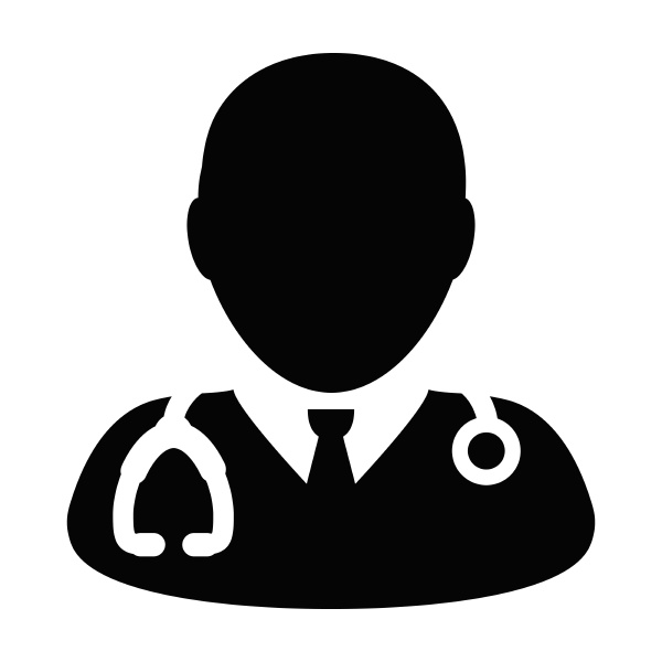 medical icon vector male doctor person