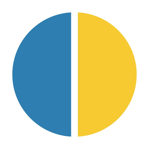 pie chart icon vector symbol for