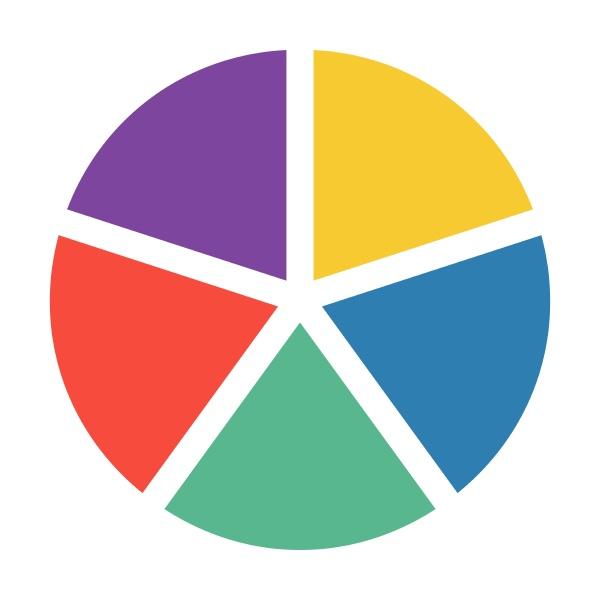 pie chart icon vector graph symbol