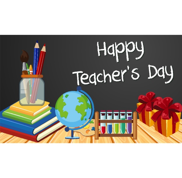happy teacher s day sign with