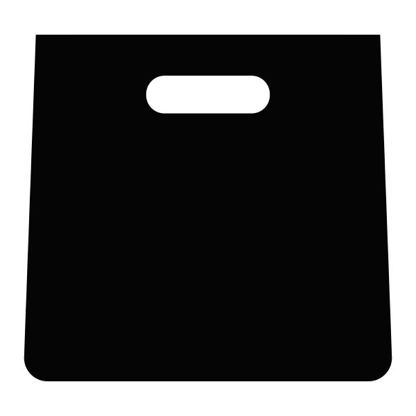 shopping bag icon vector flat color