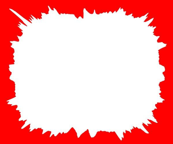 white splash on a red background