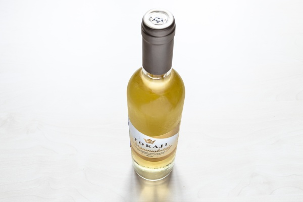 closed bottle of hungarian sweet white
