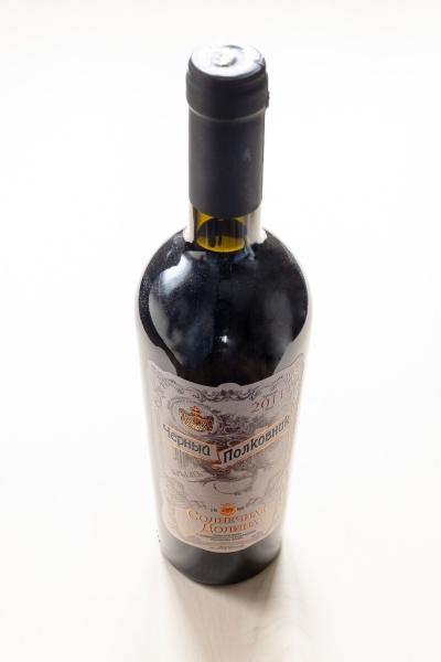 bottle of crimean sweet wine black