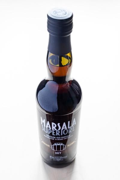closed bottle of dry superior marsala