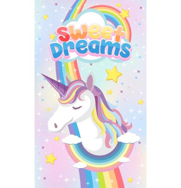 unicorn icon on magic pastel