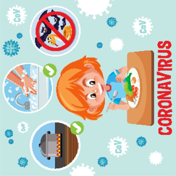 coronavirus poster design with how to