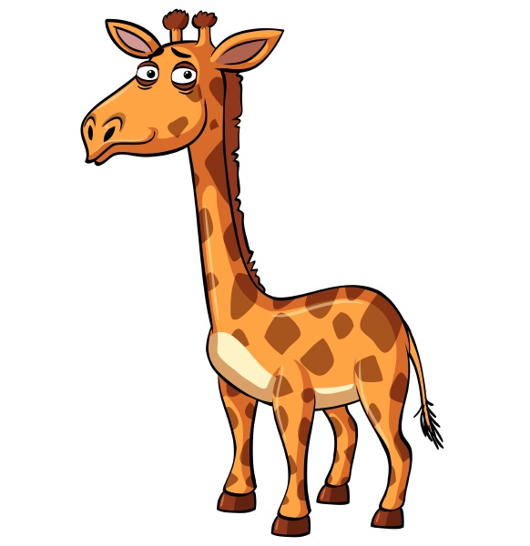 giraffe with sad smile