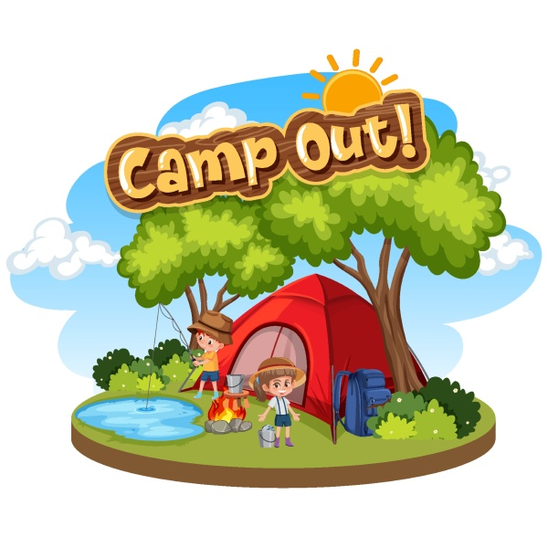font design for camp out with