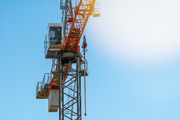 top of a crane with a