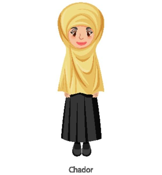 a woman wearing chador islamic traditional