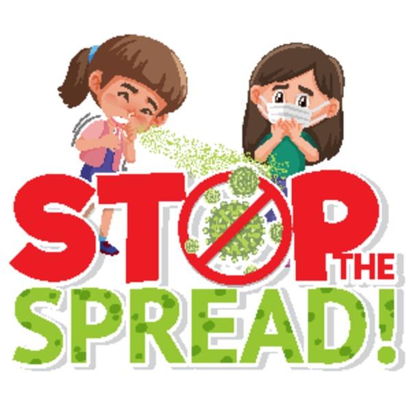 stop spreading coronavirus with girls character