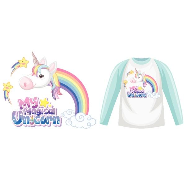 unicorn raglan long sleeve t shirt