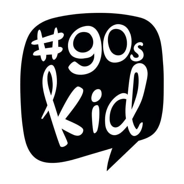 sticker design for 90s kids