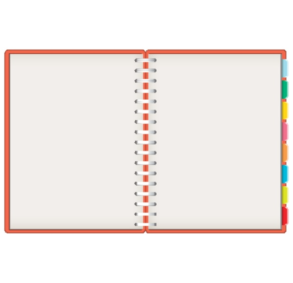 blank notebook template background