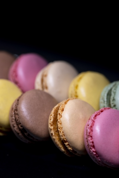 macaroons of different colors on a