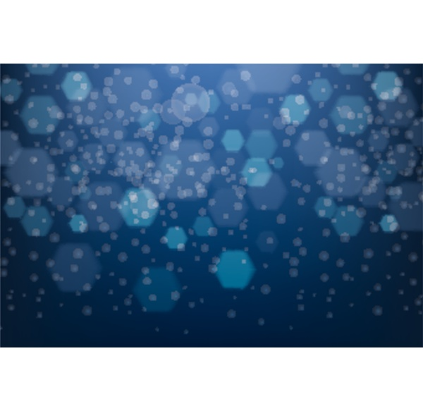 background design with blue hexagon patterns