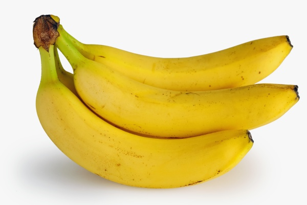 ripe bananas bunch isolated on white
