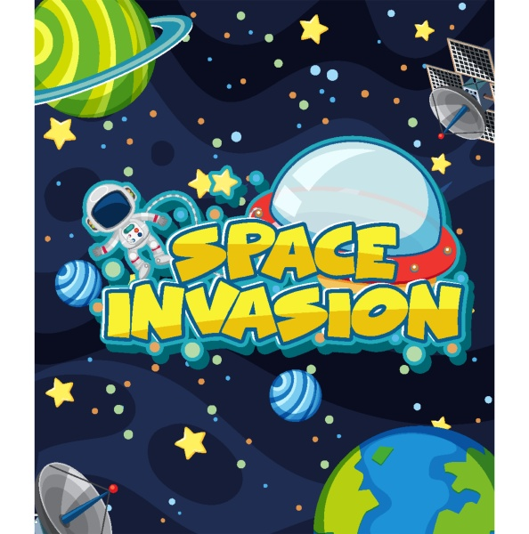 background design with astronaut and many