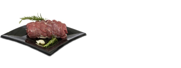 raw meat dish white background