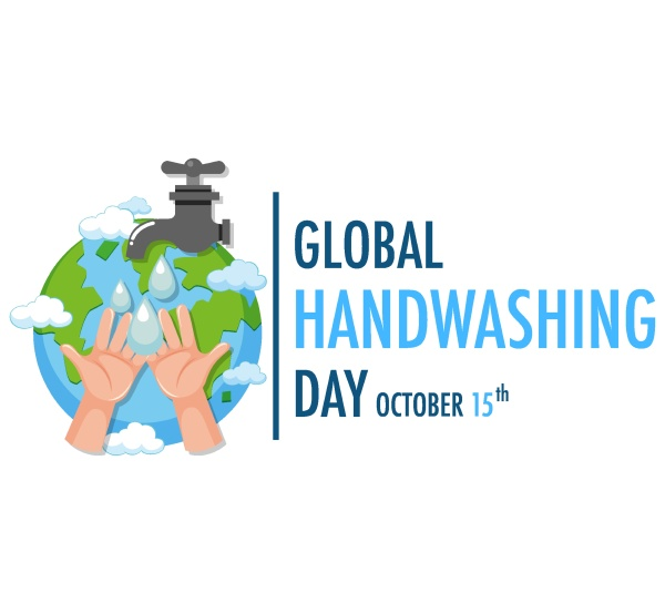 global hand washing day logo with