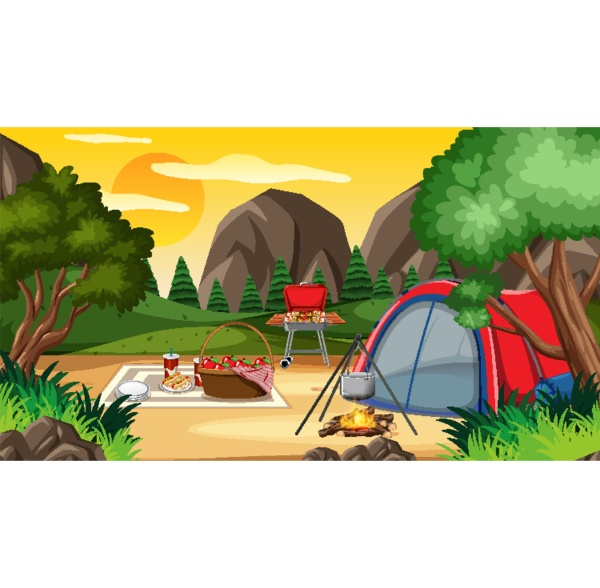 camping or picnic in the nature