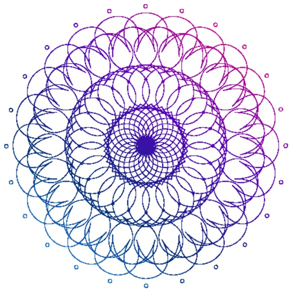 mandala pattern design in purple color