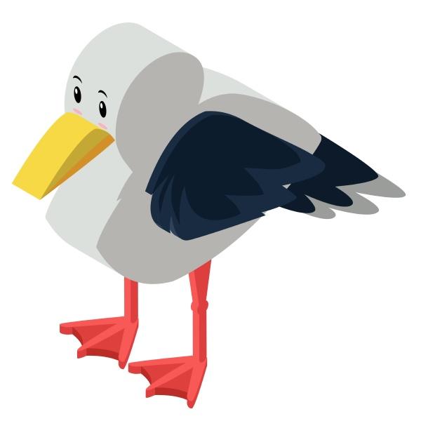 3d design for seagull