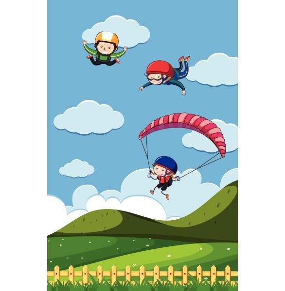 doodle kids with sky activities