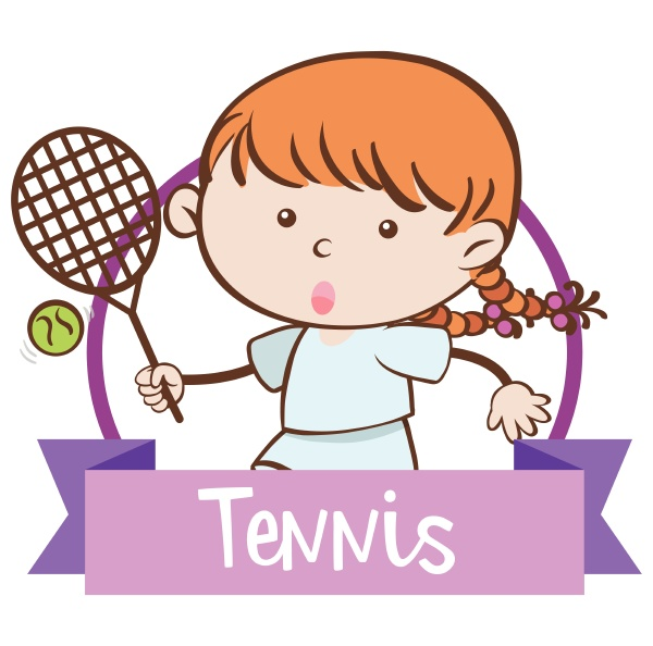 a girl playing tennis on white