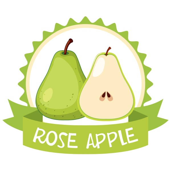 banner template with green roseapple