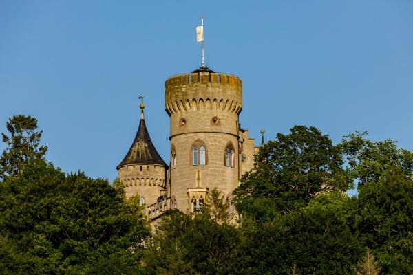 the castle landsberg at meiningen in
