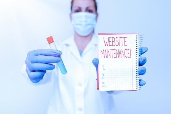 writing displaying text website maintenance conceptual