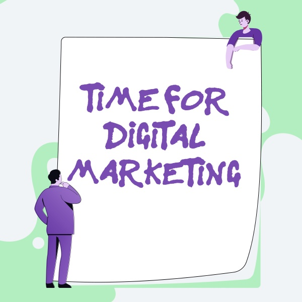 writing displaying text time for digital