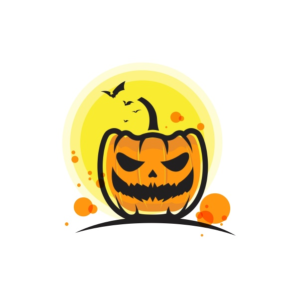 pumpkin with smile for your design