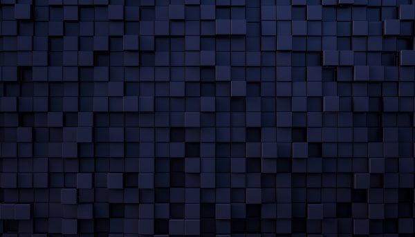 abstract mosaic background in blue and