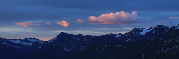sunrise scene in the bernese oberland