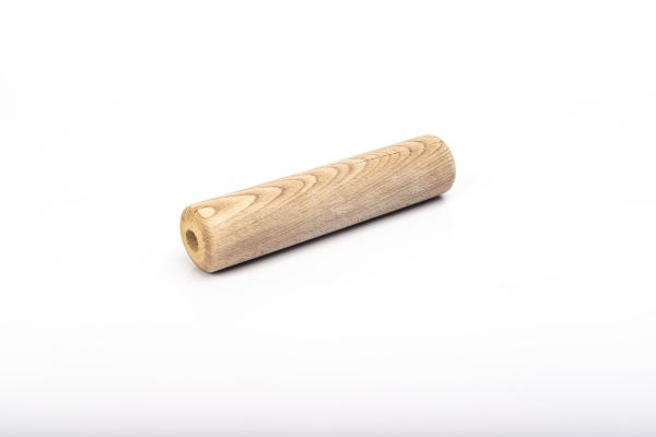 wooden rolling pin on white background