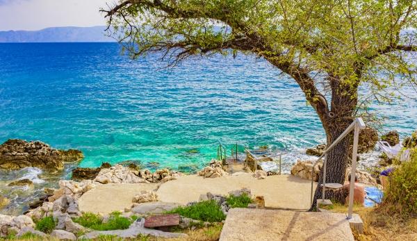 beautiful mediterranean landscape in novi vinodolski